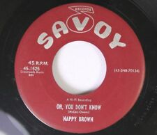 R&B Blues 45 Nappy Brown - Oh, You Don'T Know / The Right Time On Savoy