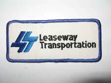 VTG Leaseway Transportation Blue and White Logo Patch 5 5/8
