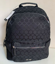 NEW! NINE WEST SIGNATURE LOGO BLACK TAREN XL LAPTOP TRAVEL BACKPACK BAG $89 SALE