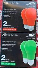 4 Christmas Bulbs - LED 120V 7W (40W replacement) A19 Red & Green