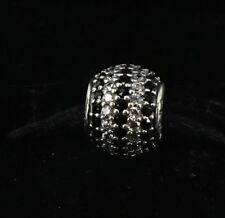 Authentic PANDORA Sterling Silver Black Nautical Pave Lights Charm 791172NCK