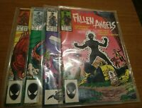 FOUR issues of MARVEL Fallen Angels #1 2 3 & 4 in an eight issue LIMITED SERIES
