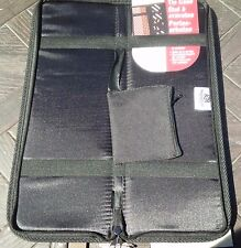 HOUSEHOLD ESSENTIALS Travel Tie Case with Cuff Link Pouch Black 6704