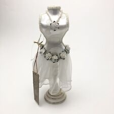 Doll White Dress Mannequin Female Table Top Sewing Decor Jewelry Display 10�