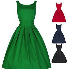 Retro Ladies Women Vintage Style 1950's Rockabilly Evening Party Swing Dress New
