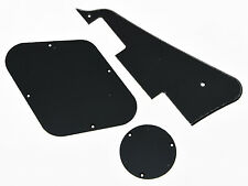 Black 1 Ply LP Pickguard & Back Plate Switch Cavity Covers for Epiphone Les Paul