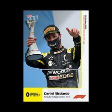 2020 Formula 1 F1 Topps Now card #8 Daniel Ricciardo - Renault's 1st Podium 2011