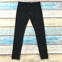 Hue Womens Pants siz Medium Black Soft Comfy Cotton Stretch Slim Skinny Leggings