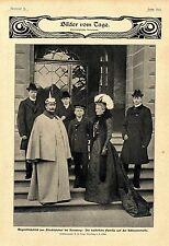 Die kaiserliche Familie auf der Schlossterrasse Friedrichshof bei Kronberg 1901