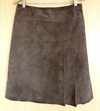 Oasis Ladies Skirt Size 12 Brown A Line Suede Casual Fashion Blogger