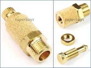 """1/8"""" BSP Adjustable Brass Pneumatic Silencer Muffler Exhaust Valve Fitting Vent"""