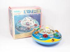 Masudaya Modern Toys X-7 Explorer flying saucer Space Ship Japan Tin Toys UFO