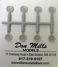 """Round """"D-Ring"""" Slam Locks 1/24th Scale By Don Mills Models"""