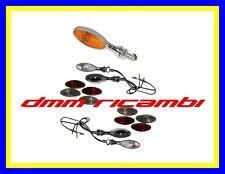 4 Frecce MOTO Cromate sportive universali freccia tuning piccole custom no led