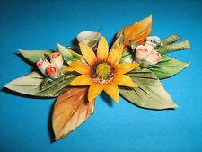 Bouquet Capodimonte Originale Con Margherita e Fiori Autentico Festa Della Mamma