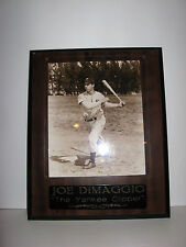 "New York Yankees  Joe DiMaggio ""The Yankee Clipper"" Plaque 13 x 16 Walnut"