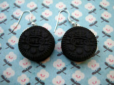 Retro Cute Kawaii Food Biscuit Chocolate Funky Mini Oreo Cookie Earring Kitsch