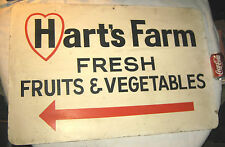 ANTIQUE HEART FRUIT VEGETABLE COUNTRY PRIMITIVE FARM WOOD FOOD STAND US ART SIGN