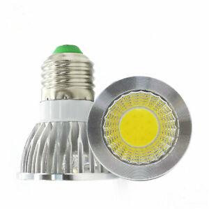 E27 3W COB Led Light Bulb Warm White Spotlight Lamp Indoor AC110V-240V 3200K