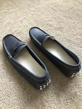 Womens Lacoste Loafers Navy Blue 8.5