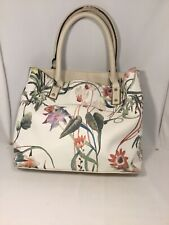 "Stunning Dana Buchman Floral Garden Ivory Purse Handbag 13"" X 11"" Tote"