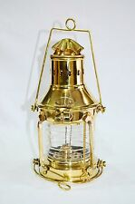 Nautical Ship Oil Lamp Antique Shiny Brass Hanging Oil Lantern Home Decorative