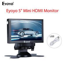"5"" Mini Rear View Monitor 800x480 VGA HDMI BNC AV 400cd/㎡ For Car Reversing Cam"