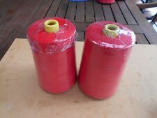 2X 20/8X2KG-RED BAG CLOSING 8 PLY THREAD FOR INDUSTRIAL PEDISTAL BAG CLOSERS