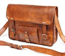 Men's Retro Leather Messenger Shoulder Bag Satchel Laptop Briefcase Attache Bags