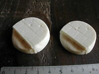 2x SOCLES/BASES ROND/ROUND 40MM RESINE RUE /ROAD (/W40K... etc)  #225