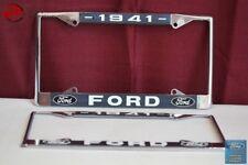 1941 Ford Car Pick Up Truck Front Rear License Plate Holder Chrome Frames New