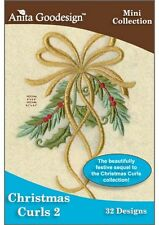 Anita Goodesign Christmas Curls 2 Embroidery Machine Design CD NEW 115MAGHD