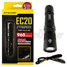 NITECORE EC20 flashlight compact Cree XM-L2 T6 LED 960 lumens FREE Shipping