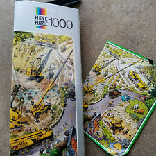 Vintage 1974 Friedrich Heye Loup Yellow Power German Jigsaw Puzzle 1000 pcs