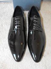 NIB $495 FRANCESCONI ITALY Handmade Patent Leather Oxfords EU 45 UK 11 US 12