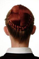 Dutt Haarteil aufwendig geflochten Haarknoten Tracht Rot Kupferrot N796-350