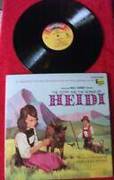 Walt Disney Heidi story & songs soundtrack 1968 LP & booklet