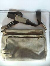 Suede Leather Messenger Bag - Laptop/document bag Vintage distressed