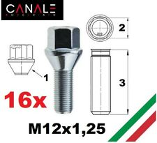 kit 16 bulloni ruota M12x1,25 Fiat 500 panda qubo stilo punto marea Alfa mito