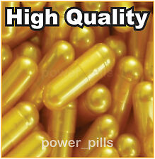 1000 EMPTY GELATIN CAPSULES SIZE 0 (Kosher) GEL CAPS PILL COLOR - GOLD PEARL