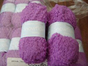 SIRDAR SNUGGLY SNOWFLAKE DK KNITTING YARN 661 pink crush 10 x 25g