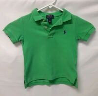 POLO Ralph Lauren Boys Green Short Sleeve Polo Shirt Boy's Youth Size 3/3T Kids