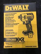 "DEWALT DCF887 1/4"" IMPACT SET Brand New Sealed"