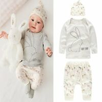 Cute Newborn 6 12 18 24 Months Outfits Set Baby Boys Girls 3Pcs Kid Clothes Suit