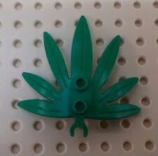 *NEW* Lego Green Plant Shrub 7 leaves w Clip Jungle Forest Gardens x 1 piece