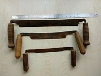 Set 3 pc Antique Wood Draw Shave Woodworking Knife Draw Hand Made Forged Vintage