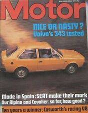 Motor magazine 4/6/1977 featuring Volvo 343 road test