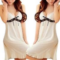 Frauen-Spitze Kleid Wäsche Nachtwäsche Unterwäsche Dessous Babydoll + G-string