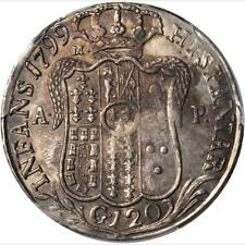 1799 P/M AP Italian States, Kingdom of Naples, 120 Grana, PCGS AU 55, KM 231,
