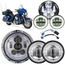 "7"" LED Headlight + Passing Lights Halo For Harley Electra Glide Ultra Classic"